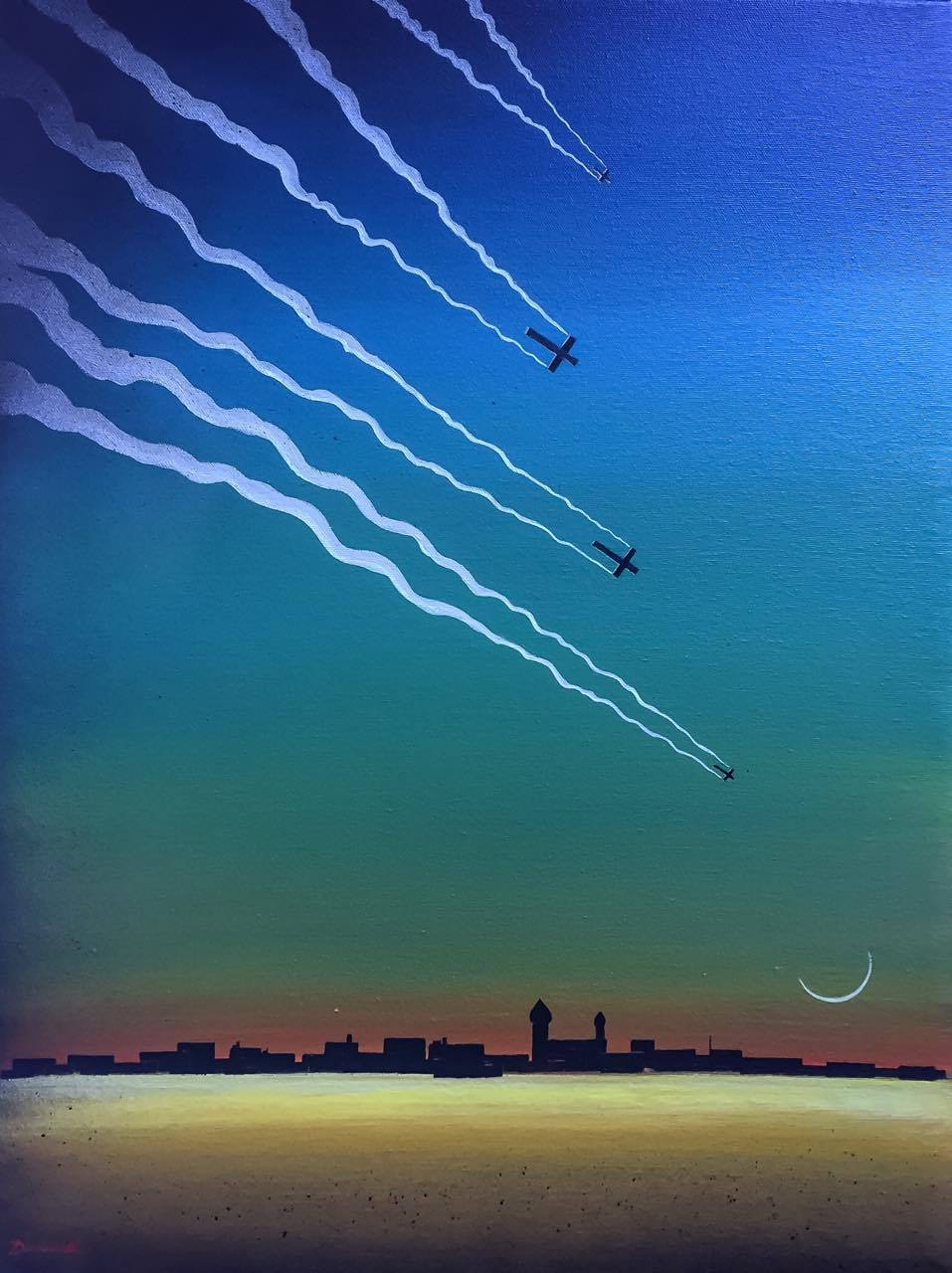 Drones over Damascus by Pete Dunne Artist